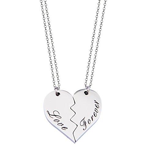 CNA Heart Necklace (Silver) - 5