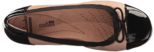 Flat Black US Nude Blanche Leather Women's 5 Clarks Leather M Nora qt1wRAxI