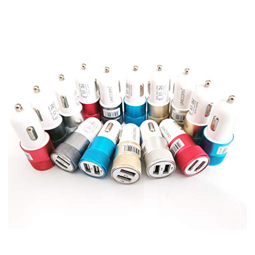 USB Car Charger Dual Port Fast Charge Bulk Lot Wholesale Chargers by UNiCORN Trade (50 Packs) from Unicorn Trade