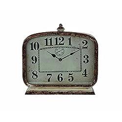 Creative Co-Op Metal Mantle Clock
