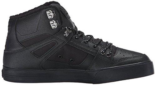 DC Spartan Hi WC SE Noir Blanc Hommes Skate Formateurs Chaussures Bottes