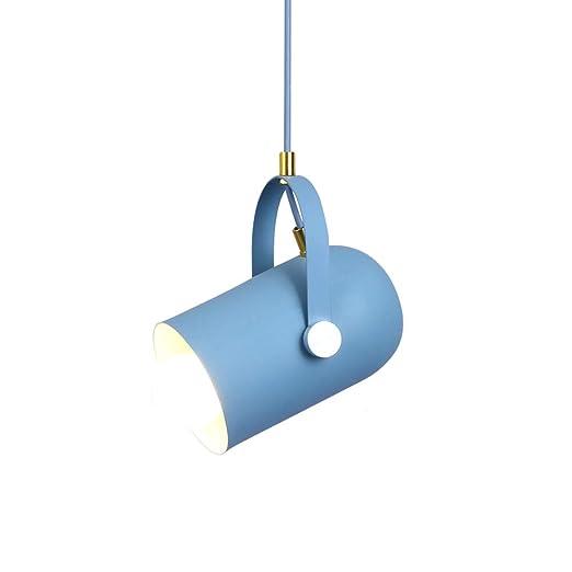 LuckyLamp Lámpara Colgante de Techo Macaron Pantalla de Aluminio ...