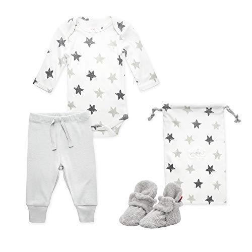 Zutano Baby Booties Gift Set, Stars 3pc, Gray, 3M ()
