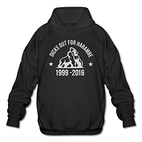 Men's Dicks Out For Harambe YouTube Hooded Sweatshirt Black -