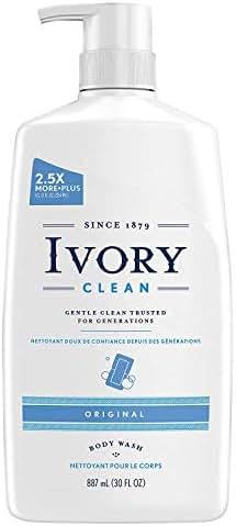 Ivory Clean Body Wash Pump Original, 30 Fl. Oz. (Pack of 2)