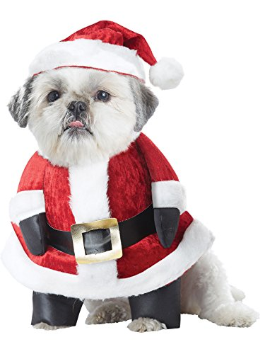 Amazon.com: Disfraz de perro, diseño de Papá Noel de ...