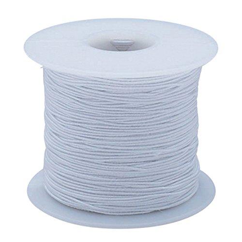 S&S Worldwide White Medium Elastic Cord, 100 Yard