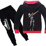 2 Pcs/set 3D Digital Printing Fortnite Fashion Cotton Kid Clothing Set for Children, Including Long Sleeve Hoddie and…