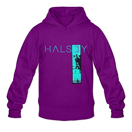Men's Halsey Room 93 EP Poster Hooded Sweatshirt Size L Purple