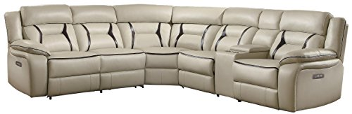 Amazon.com: Homelegance Amite - Consola reclinable de 6 ...