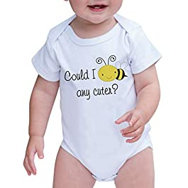 7 ate 9 Apparel Baby's Could I bee Any Cuter? Onepiece