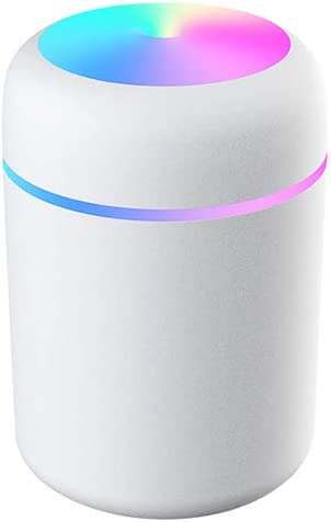 Mute 2 Mist Spray Modes Portable Mini USB Humidifier for Desk Personal Car Travel Home Office Baby Bedroom with Colorful Night Light HITECHLIFE Small Cool Mist Humidifiers 300ML