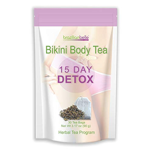 Bikini Body Detox Tea for Weight Loss - Best Slimming Tea on Amazon - Boosts Metabolism, Shrinks Love Handles and Improves Complexion (15 Day Detox) (Best Diet For Belly Fat And Love Handles)
