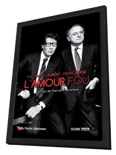 Yves Saint Laurent - Pierre Bergé, L'Amour Fou 27 x 40 Movie Poster - French Style A - in Deluxe Wood Frame