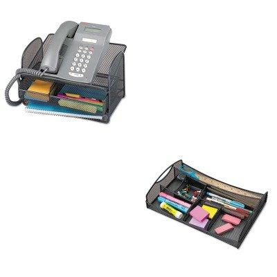 KITSAF2160BLSAF3262BL - Value Kit - Safco Onyx Angled Mesh Steel Telephone Stand (SAF2160BL) and Safco Drawer Organizer (SAF3262BL) by Safco