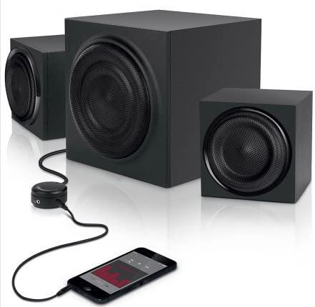 Amazon.com: 100.10 Computer Speakers with Subwoffer and AUX Cable