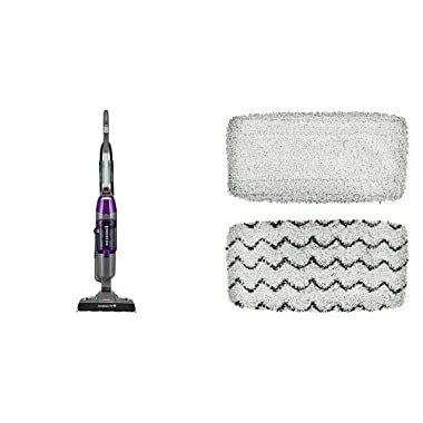 BISSELL Symphony Pet All-in-One Vacuum and Steam Mop, 1543A and Bissell 1252 Symphony Hard Floor Vacuum and Steam Mop Pad Kit Bundle