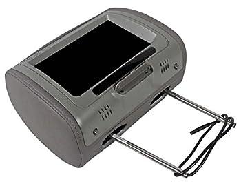 "Pair Rockville Rhp91-gr 9"" Digital Panel Gray Car Headrest Monitors W Speakers 3"