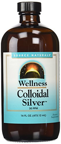 Source Naturals Wellness Collodal Silver 30PPM Stress Support - 16 Fluid Ounces