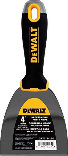 DEWALT 4-Inch Putty Knife   Carbon Steel w/ Soft Grip Handle   DXTT-2-150