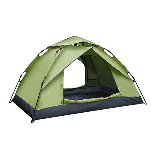 元の資金ステップ2人の頑丈なキャンプ用テント自動インスタントポップアップバックパックテント超軽量キャンプ用トラベル、サンシェード、モスキング用防水 ( 色 : 青 )