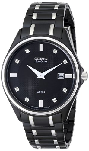 Citizen Men's AU1054-54G Eco-Drive Stainless Steel and Diamond-Accented - Used Watches Mens