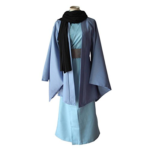 Mtxc Men's Kamisama Kiss Cosplay costume Tomoe Kimono Size Small Blue ()