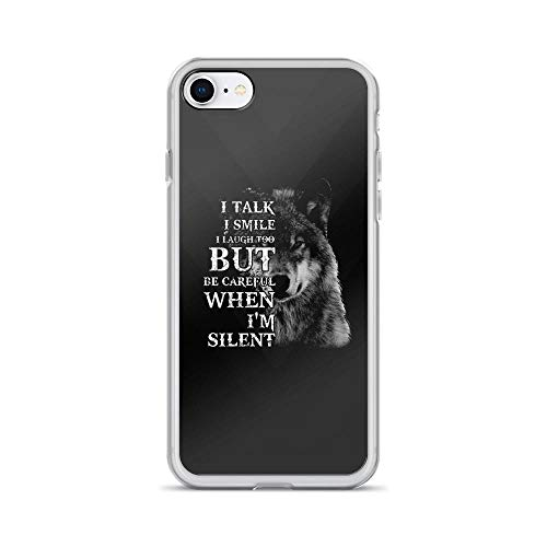 Diner Scroll (iPhone 7/8 Pure Clear Case Cases Cover Wolfdog Be Careful When I'm Silent)