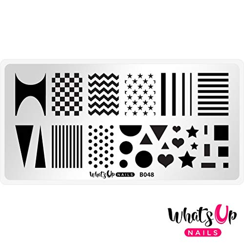 Simple Halloween Designs For Nails (Whats Up Nails - B048 Simple Shapes Stamping Plate for Nail Art)