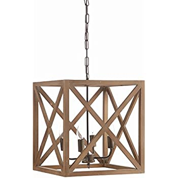 Amazon creative co op metal and wood chandelier 1575 square creative co op metal and wood chandelier 1575 square by 1775 height aloadofball Choice Image