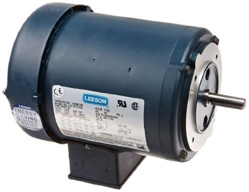 Leeson 102662.00 General Purpose C Face Motor, 3 Phase, 48CZ Frame, Round Mounting, 0.167HP, 1800 RPM, 208-230/460V Voltage, 60Hz Fequency