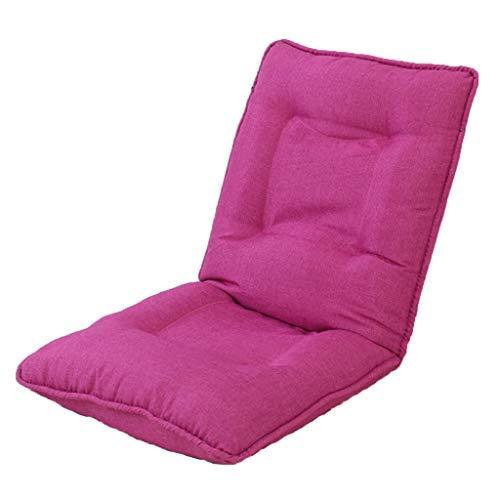 怠惰な厚いソファ折りたたみ式コンピュータソファチェアバルコニーランチ休憩ソファベッド5速調節可能な椅子多機能リクライニングチェア耐荷重120 KG(カラー:ピンク、サイズ:52 * 52 * 60 cm) B07SY6YQXS