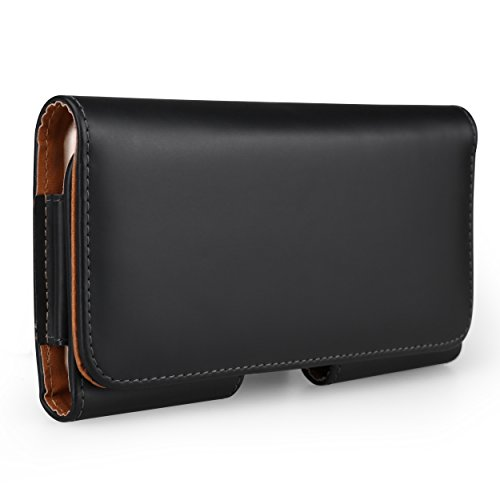 Blackberry Horizontal Leather Case - Executive PU Leather Horizontal Waist Belt Clip Holster Wallet Case for Samsung Galaxy S8+ / S8 / J3 J5 J7 A5 2017 / J7 Pro / J7 V / C5 Pro / Xcover 4 / Blackberry Keyone / Aurora