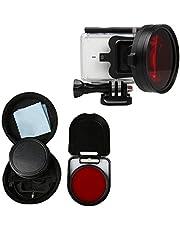 Xinvision 58mm Close-Up Lens 16X Magnification for Xiaomi Yi 2 4K Action Camera, HD Close-Up Macro Filter Lens 16X Magnification + Red Filter Sets Camera Accessories