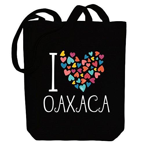 love Canvas I hearts colorful Idakoos Oaxaca Bag Tote Cities 5T1YqW