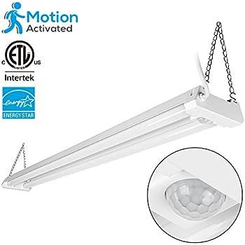 4ft Linkable LED Motion Activated Utility Shop Light 40W (120W T8 Tubes Equiv.  sc 1 st  Amazon.com & 4ft Linkable LED Motion Activated Utility Shop Light 40W (120W T8 ... azcodes.com