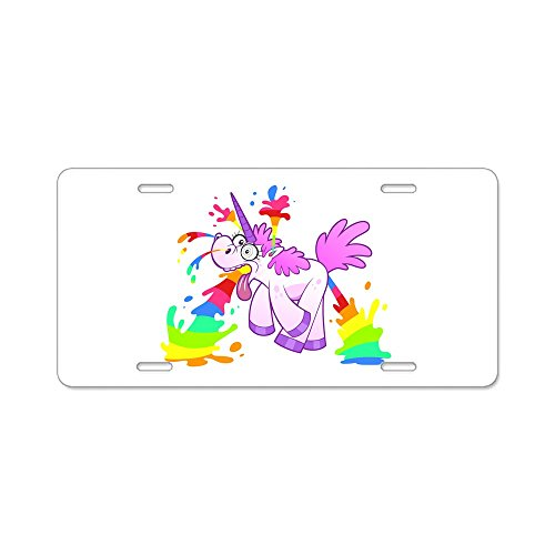 Aluminum License Plate Unicorn Creating Rainbow