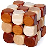 Snake Cube Wooden Brain Teaser Puzzle toy 60mm