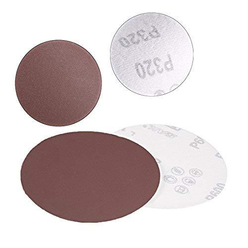 50Pcs 5-inch sanding disc with hook and loop 600 grit sandpaper for random orbit sander Brown