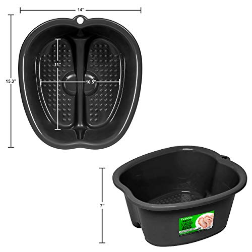Foot Soaking Bath Basin - Large Size for Soaking Feet   Pedicure and Massager Tub for At Home Spa Treatment   Relax and Add Hot Water, Epsom Salts, Essential Oils   Callus, Fungus, Dead Skin Remover