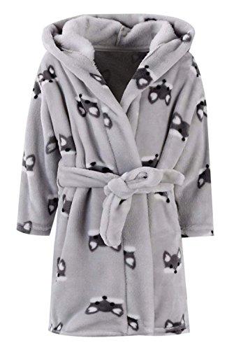 Kids Bathrobes for Girls Boys,Baby Toddler Robe Hooded Flannel Bathrobe Pajamas Sleepwear for Girls Boys G-Fox 7-8T ()