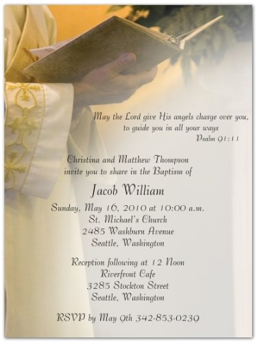 (Rejoice! Baptism Christening Invitations - Set of 20)