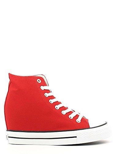 Interna Allacciate Dg900 Cafènoir Alte Rosso Canvas Sneakers Zeppa Con In 8xCqBTwg