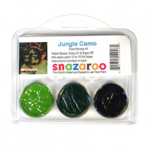 [Jungle Camo THEME PACK Snazaroo Face Paint Theme Set] (Ready For Action Military Costume)