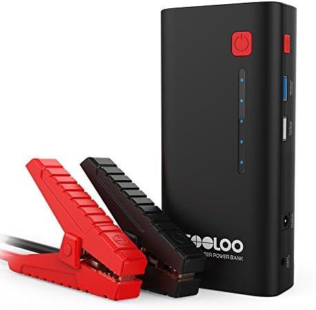 GOOLOO Arrancador de Coche, 18000mAh 1200A Arrancador de Baterías de 12V(Motores de Hasta 7.0L de Gasoline o 5.5L Diesel) , Banco de Energía Portable con Cargador de Teléfono y luz LED Incorporada: