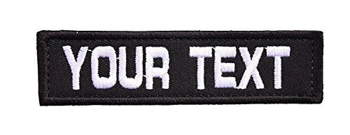 Masterpatch Customizable Text 1x3 Patch w/Hook Fastener Morale Patch - Patch Text