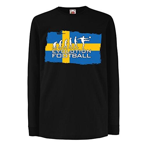 lepni.me Niños/Niñas Camiseta Campeonato Mundial de fútbol de la Copa Mundial 2018, Equipo Nacional Sueco de fútbol...