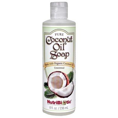 Nutribiotic Pure Coconut Oil Soap, Unscented, 8 Fluid Ounce