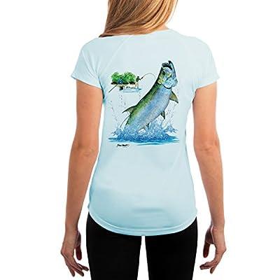 KEVIN BRANT Tarpon Jump Women's UPF 50+ Performance T-shirt