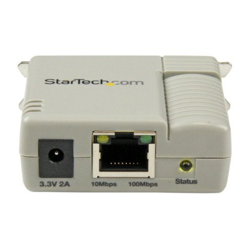 StarTech.com 1-Port 10/100 Mbps Ethernet Parallel Network Print Server (PM1115P2) by StarTech (Image #1)